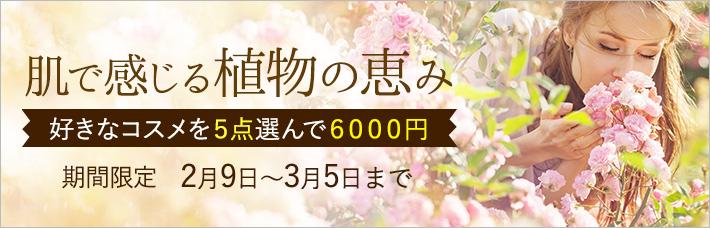 ナチュラルコスメ よりどり5点で6000円